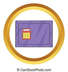 Closed safe vector icon