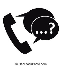 Phone sign and support speech bubbles icon - Phone sign and...