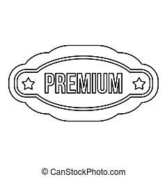 Premium lable icon, outline style - Premium lable icon....