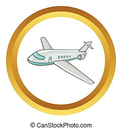 Passenger airliner vector icon