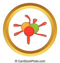 Paintball blob vector icon - Colorful paintball blob vector...