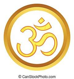Hindu om symbol vector icon