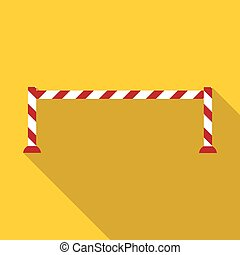 Barrier icon, flat style - Barrier icon. Flat illustration...