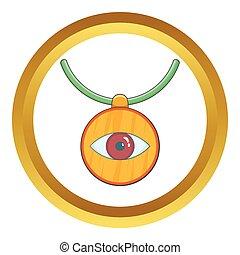 olho, contra, amuleto, vetorial, Mal, ícone
