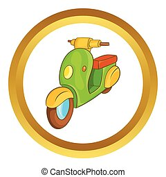 Scooter motorbike vector icon
