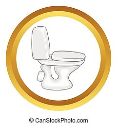 White toilet bowl vector icon