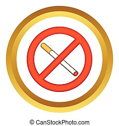 Smoking is prohibited vector icon