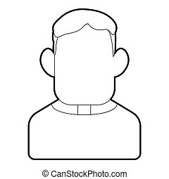 Priest icon, outline style - Priest icon. Outline...