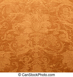 Vintage wallpaper with shabby tapestry pattern - Vintage...