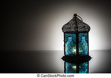 Lantern in black and white background - Lanterns is a public...