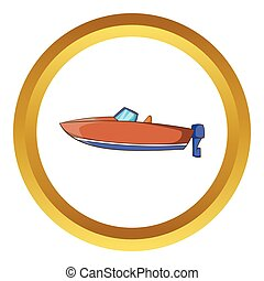 Motor boat vector icon