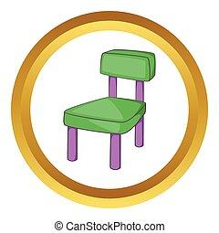 Children chair vector icon
