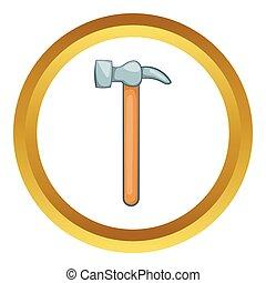 Carpenter hammer vector icon