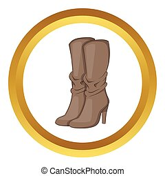 Womens boots high heel vector icon