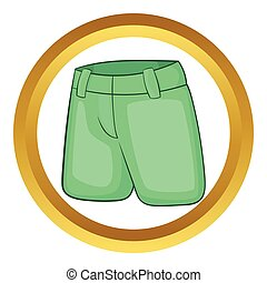 Mens classic shorts vector icon