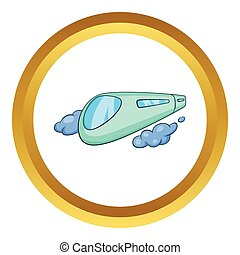 High speed train vector icon