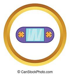 Portable game console vector icon