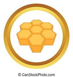 Honeycomb vector icon
