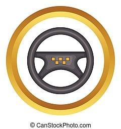 rueda,  taxi,  vector, entrepuente, icono