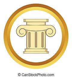 Roman column vector icon