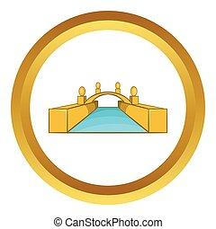Rialto Bridge Canals of Venice vector icon