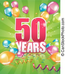 50 years birthday card