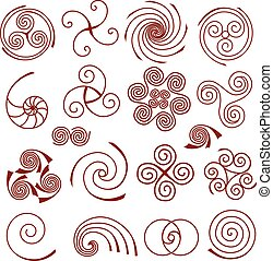 Set of simple spiral elements