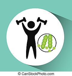 sport man weight lifting nutrition health