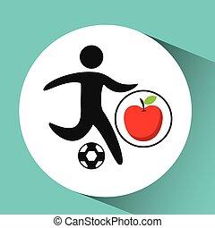 sport man soccer nutrition health vector illustration eps 10