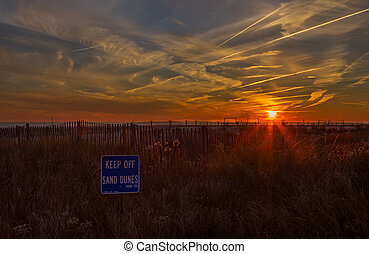 Ocean Sunset in Cape May, New Jersey at the Shore