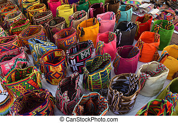Wayuu handcrafted mochilas bags for sale in Colombia