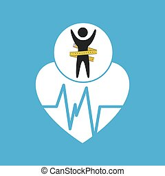 lose weight concept monitoring pulse vector illustration eps...