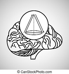 geometry brain school knowledge vector illustration eps 10