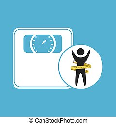 lose weight concept weight scale icon vector illustration...