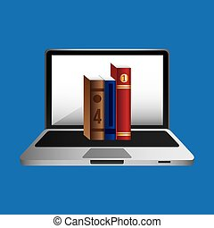online education concept e-learning graphic