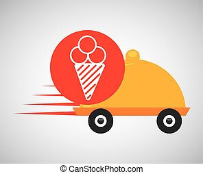 fast delivery food ice cream icon