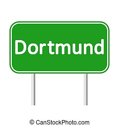 Dortmund road sign. - Dortmund road sign isolated on white...
