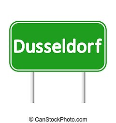Dusseldorf road sign. - Dusseldorf road sign isolated on...