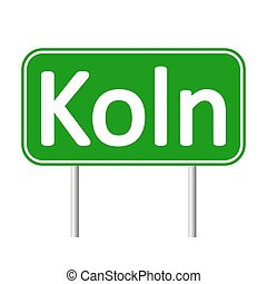 Koln road sign. - Koln road sign isolated on white...
