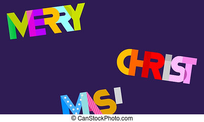 Merry Christmas! - Video clip with moving text Marry...