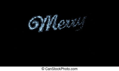 Beautiful Animation of Freezing Text Appearing. Merry...