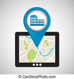 mobile device rome gps map