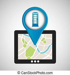 mobile device england gps map