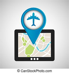 mobile device airport gps map