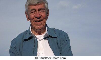 Happy Confident Elderly Old Man