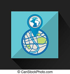 mobile device globe gps map