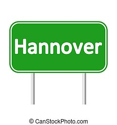 Hannover road sign. - Hannover road sign isolated on white...