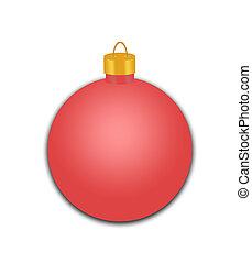 feriado, ornamento, rojo