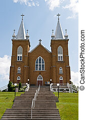 St Marys church in Wilno Ontario Canad - St Marys church and...