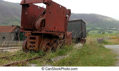 Piece of old rusty mining equipment - Abandoned rusty...